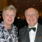 Dr. Diane Radford and Prof. Sir Keneth Calman, Alpha '81 reunion, Glasgow, Nov. 2011.
